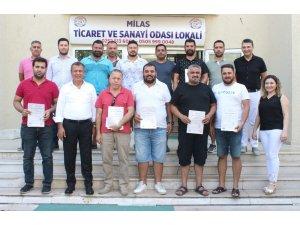 Milas'ta oto galericiler sertifikalı oldu