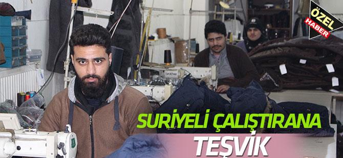 Suriyeli çalıştırana teşvik