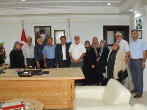 Şehit Ailelerinden Başkan Akkaya'ya ziyaret