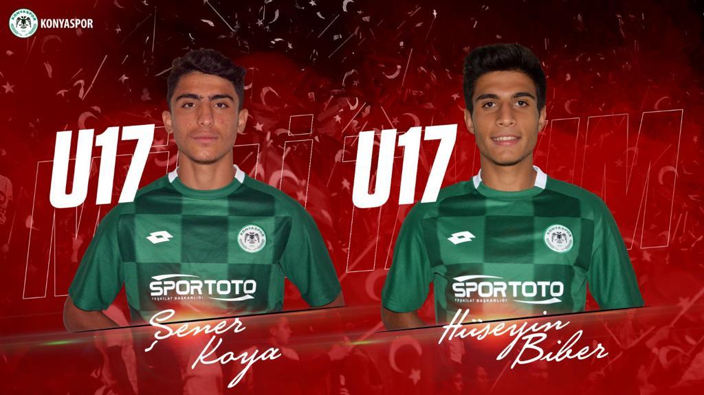 Konyasporlu 2 oyuncuya U17 Milli Takımından davet