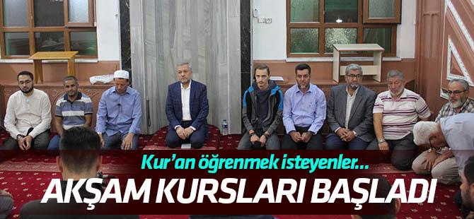 Hacı Hasanbaşı Kur'an Kursu'nda akşam kursları başladı