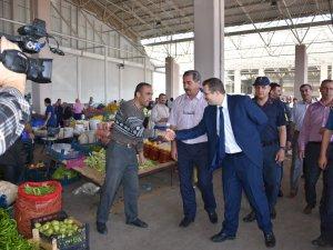 Karapınar Kaymakamı Onur Kökçü'nün pazar ziyareti