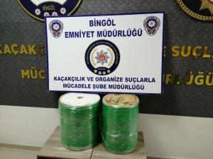 Bingöl'de kablo makarası içinde kaçak sigara ele geçirildi