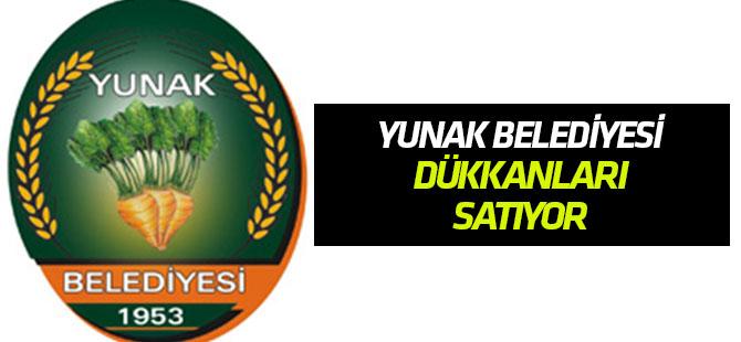 Yunak Belediyesi dükkanları satıyor