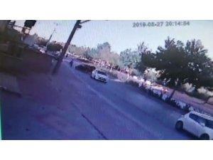 Konya'da bisiklet sürücüsünün hayatını kaybettiği kaza güvenlik kamerasında
