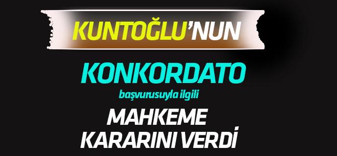 """Konya'da, Kuntoğlu'nun"""" Konkordato"""" başvurusuyla ilgili mahkeme kararını verdi"""