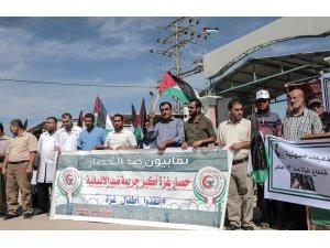 Gazze'deki sendikalar İsrail ablukasını protesto etti