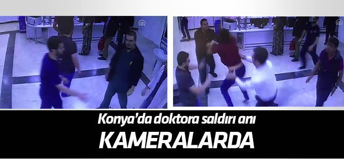 Konya'da doktorların darbedilmesi kameraya yansıdı