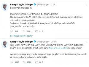 """Cumhurbaşkanı Erdoğan: """"Barış Pınarı Harekatı başladı"""""""