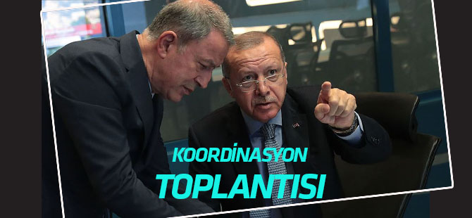"""Cumhurbaşkanı Erdoğan başkanlığında """"Barış Pınarı Harekatı Koordinasyon Toplantısı"""" yapıldı"""