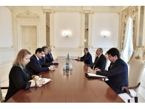 Cumhurbaşkanı Aliyev, Milli Eğitim Bakanı Selçuk'u kabul etti
