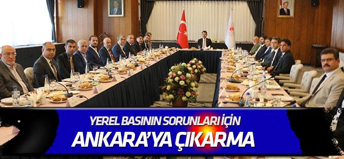 Yerel basının sorunları için  Ankara'ya çıkarma