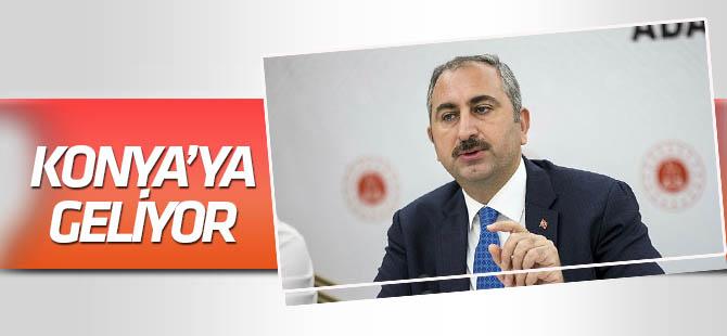 Adalet Bakanı Gül, Konya'ya geliyor