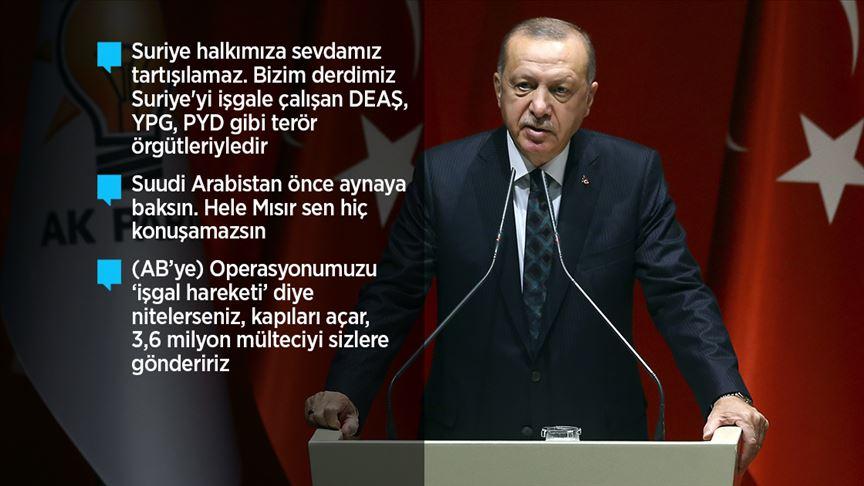 Flaş gelişme... Erdoğan: Barış Pınarı Harekatı'nda 109 terörist öldürüldü