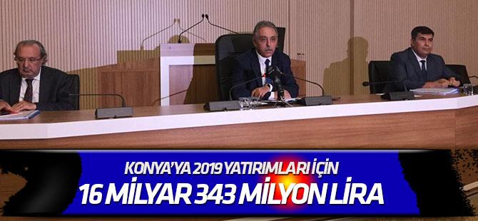 2019 yatırımları 16 milyar 343 milyon lira