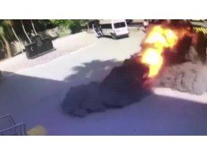 Roketin düşme anı kamerada