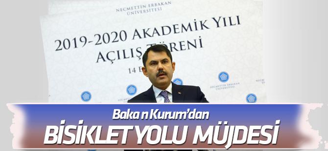 """Bakan Kurum'dan Konya'da """"Bisiklet Yolu Ağı"""" açıklaması"""