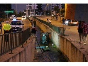 Karabük'te otomobil su kanalına düştü: 1 yaralı