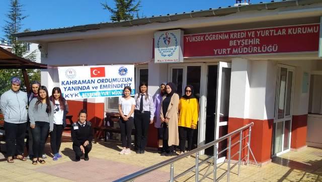 KYK öğrencilerinden Barış Pınarı Harekatı'na destek