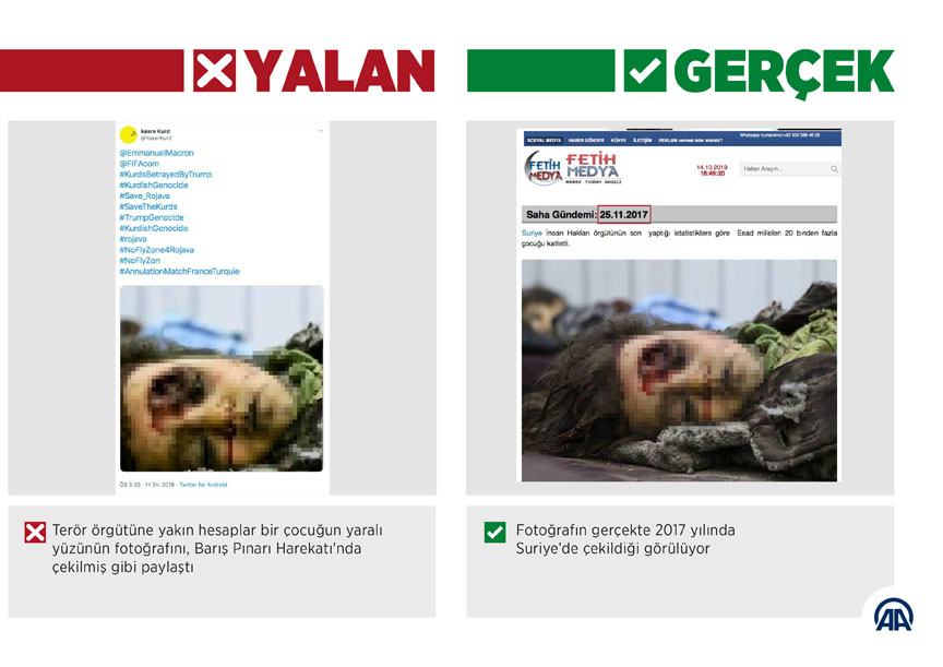 Barış Pınarı Harekatı aleyhine 'üzücü' fotoğraflarla manipülasyon girişimi