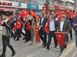 """Akşehir'de """"Bayrak Yürüyüşü"""" yapıldı"""