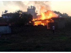Ula'da ev yangını
