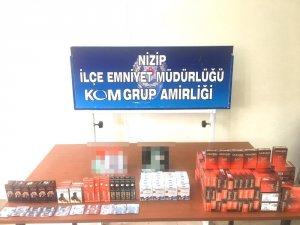 Nizip'te kaçak sigara ve cinsel uyarıcı hap ele geçirildi