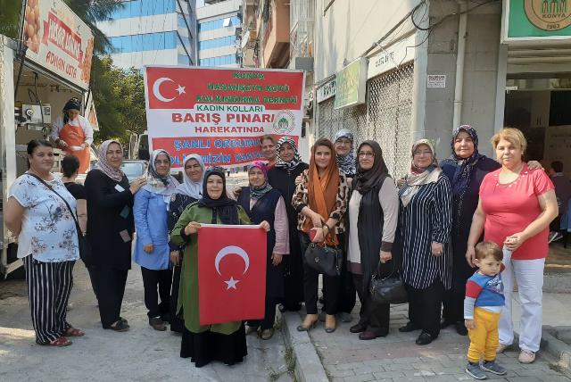Konyalılardan asker ve polislere destek