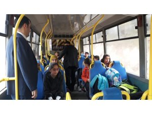 Derebucak'ta öğrenci servisleri denetlendi