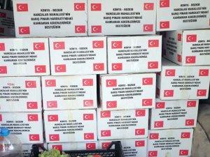 Hamzalar Mahallesi sakinleri Mehmetçiğe kuru üzüm gönderdi