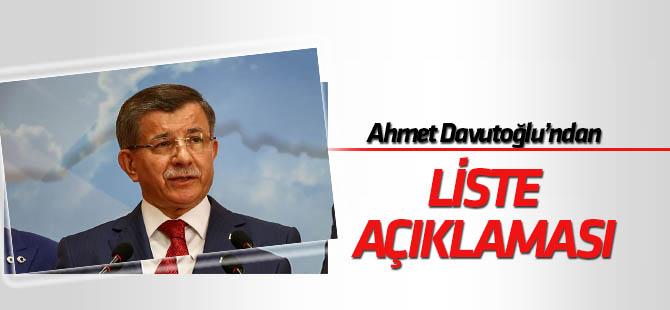 Ahmet Davutoğlu'ndan 67 kişilik liste açıklaması