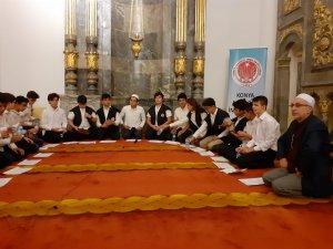 Konya Anadolu İmam Hatip Lisesi öğrencilerinden kandil programı
