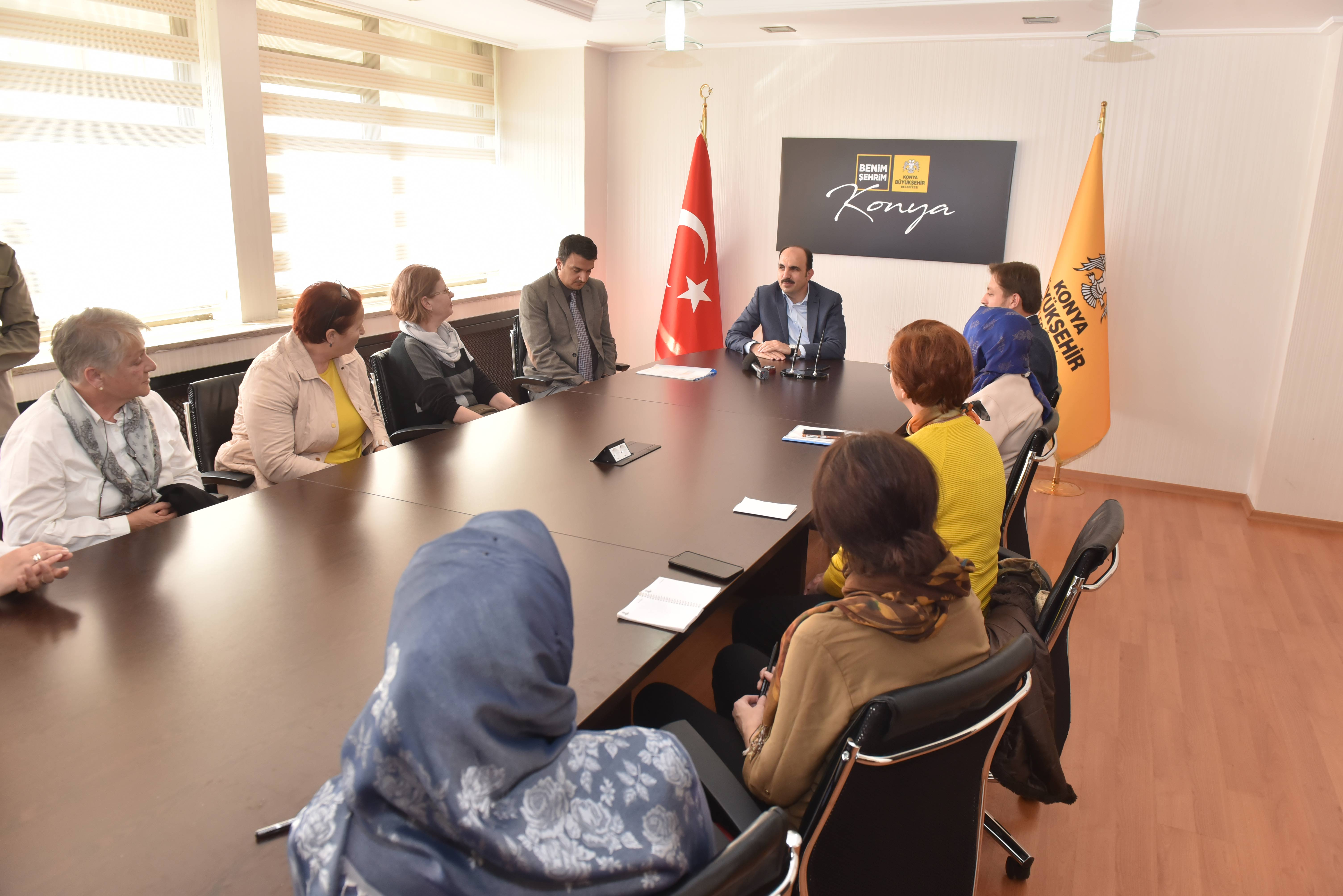 Balkanlardaki KOMEK Eğitmenleri Başkan Altay'ı Ziyaret Etti