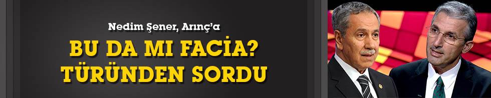 """Nedim Şener'den Bülent Arınç'a """"ankesörlü telefon"""" sorusu"""