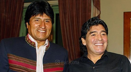 Maradona'dan Morales'e destek