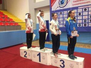 Konyasporlu Taekwondocu Avrupa ikincisi