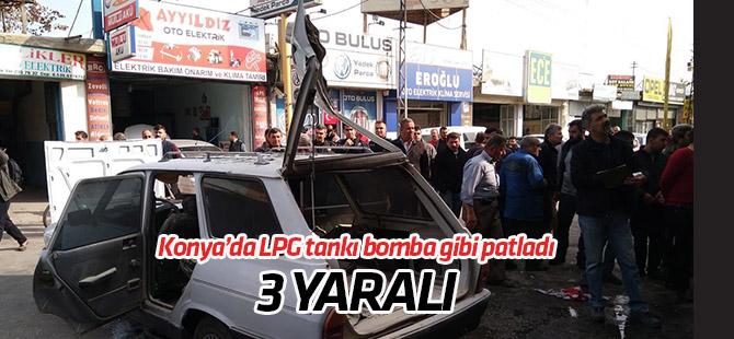 Konya'da tomobildeki LPG tankı patladı: 3 yaralı