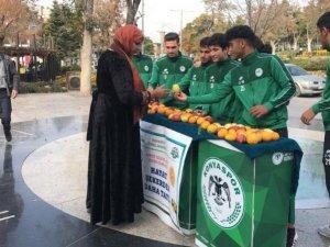 Konyaspor akademi sporcuları diyabete dikkat çekti