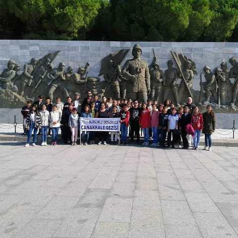 Yunaklı öğrenciler Çanakkale'de