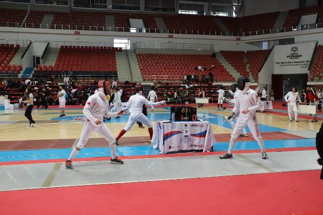 Eskrim Epe Türkiye Şampiyonası Konya'da yapıldı