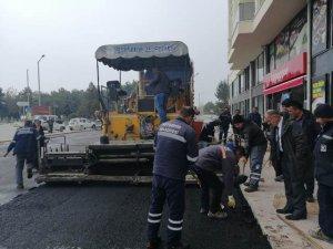 Beyşehir'de asfalt çalışması