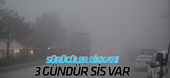 Konya-Ankara kara yolundaki sisli hava üçüncü gününe girdi