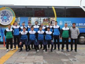 Selçuklu Belediyespor Hokey Takımı Amasya'ya gitti