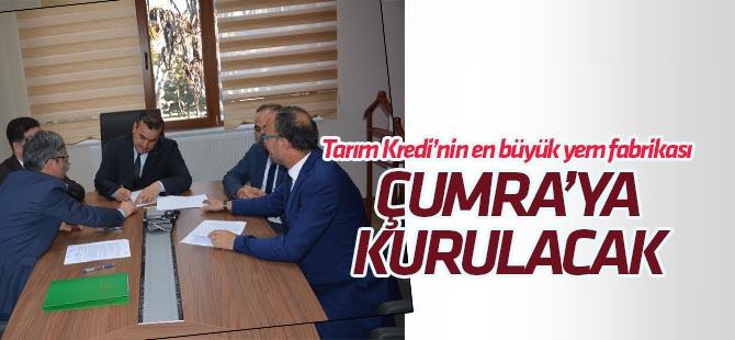 Tarım Kredi'nin en büyük yem fabrikası Çumra'ya kuruluyor