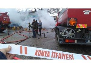 Konya Sebze Hali'nde yangın paniği