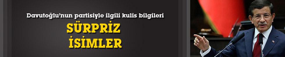 Davutoğlu'nun partisiyle ilgili kulis bilgileri! Sürpriz isimler!