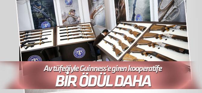 Av tüfeğiyle Guinness'e giren kooperatife bir ödül de Ankara'dan
