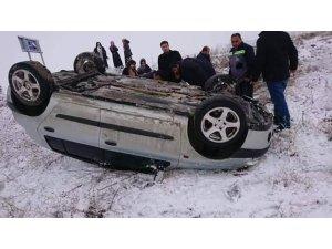 Kulu'da otomobil devrildi: 1 yaralı