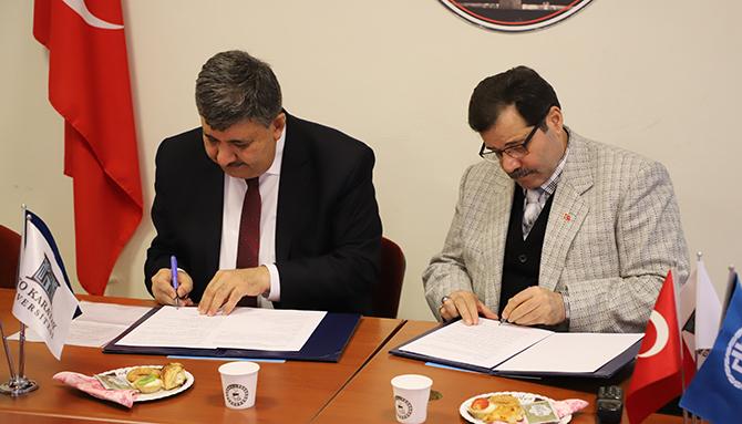 Meram Anadolu Lisesi ve KTO Karatay Üniversitesi arasında İş Birliği Protokolü imzalandı