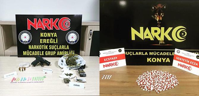 Konya'da uyuşturucu operasyonunda 12 kişi gözaltına alındı